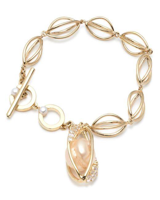 Carolee - Metallic Single Row Flex Bracelet - Lyst