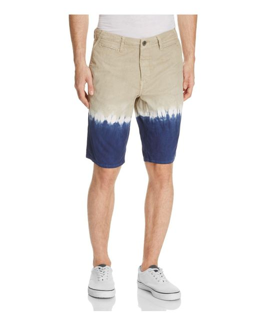 Original Paperbacks | Blue Napa Dip-dye Shorts for Men | Lyst