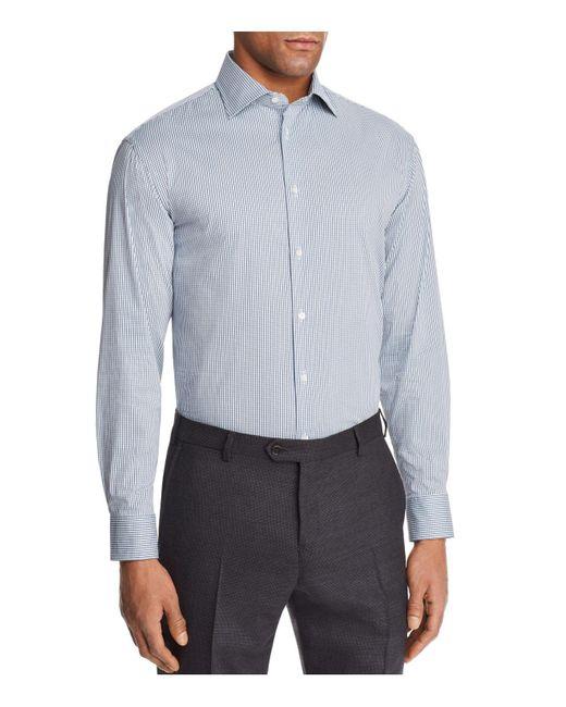Emporio Armani - Blue Multi Color Check Slim Fit Button-down Shirt for Men - Lyst