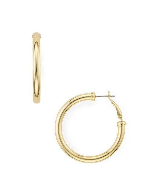 Aqua   Metallic Hoop Earrings   Lyst