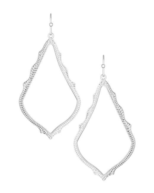 Kendra Scott - White Sophee Drop Earrings - Lyst