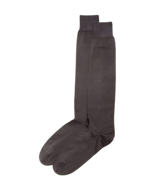 Bloomingdale's | Gray Cotton Blend Full Length Dress Socks for Men | Lyst