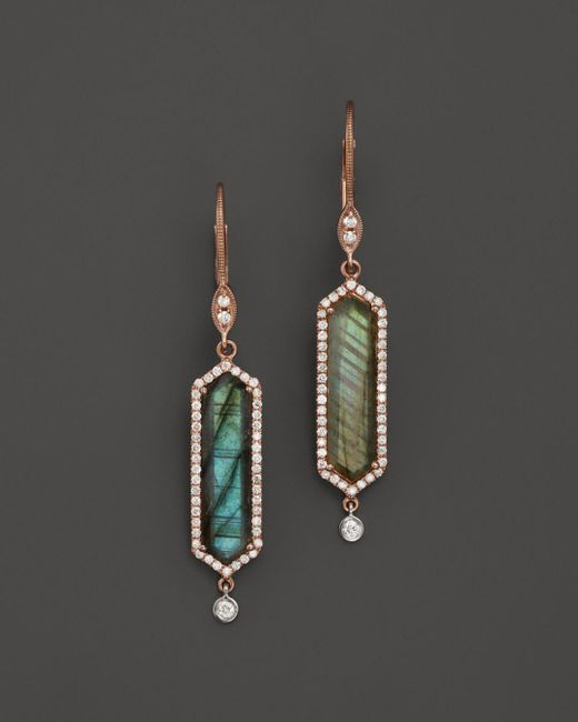 Meira T - Pink 14k Rose Gold Labradorite Drop Earrings - Lyst