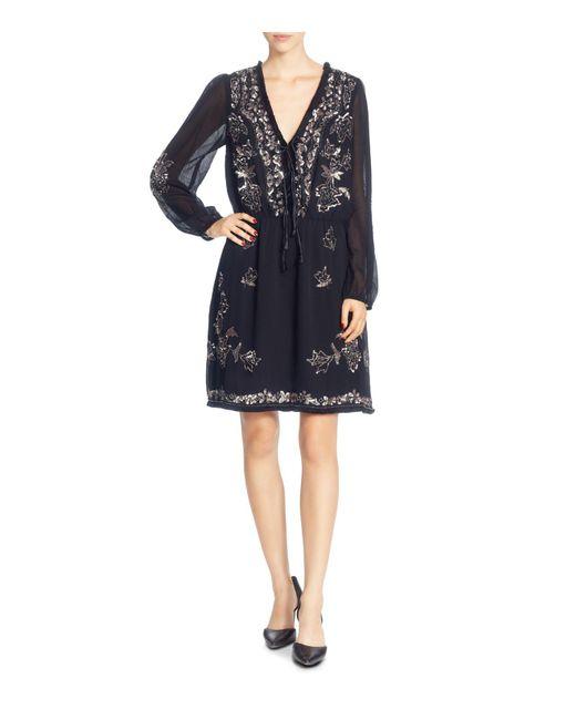 Catherine Malandrino | Black Gretl Beaded Dress | Lyst