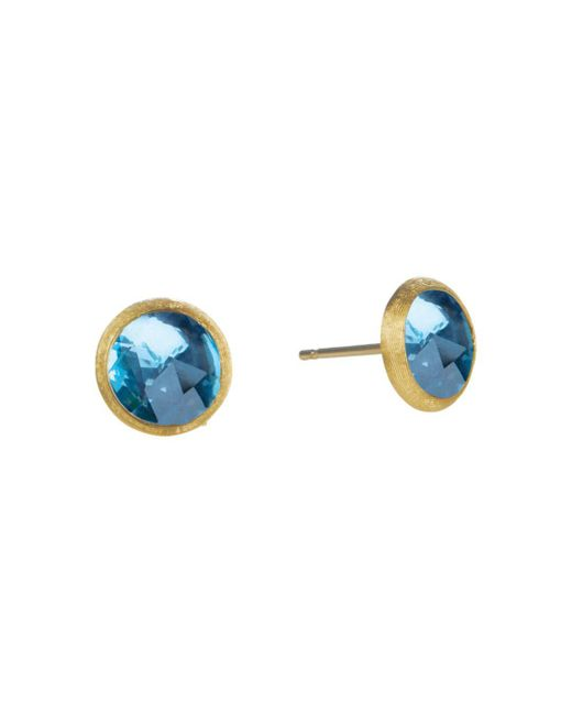 Marco Bicego - Jaipur Blue Topaz Stud Earrings - Lyst
