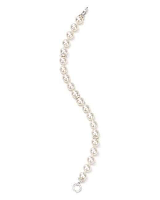Nadri - White Simulated Pearl Bracelet - Lyst