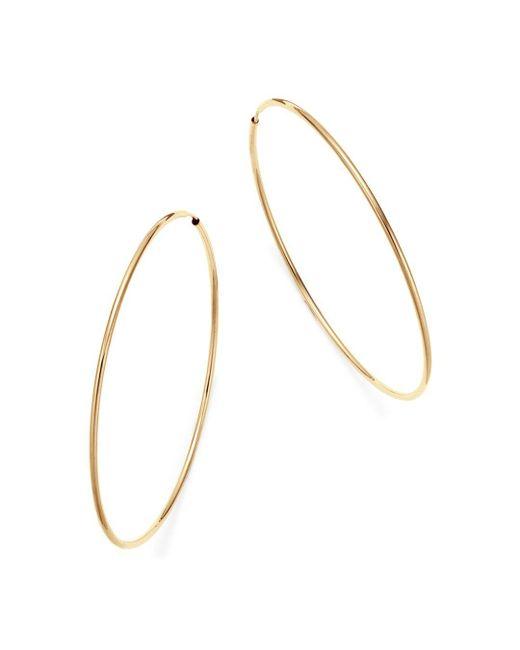 Bloomingdale's - Metallic 14k Yellow Gold Large Endless Hoop Earrings - Lyst