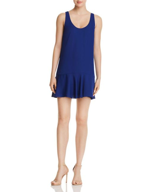 Amanda Uprichard - Blue Soren Flounced Mini Shift Dress - Lyst