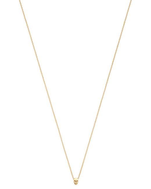 Zoe Chicco - Metallic 14k Yellow Gold Itty Bitty Skull Charm Necklace - Lyst