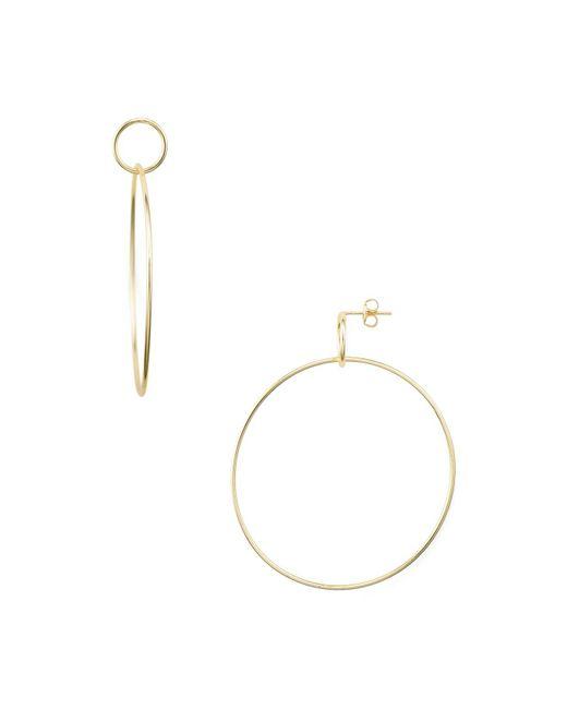 Argento Vivo - Metallic Large Double Loop Drop Earrings - Lyst