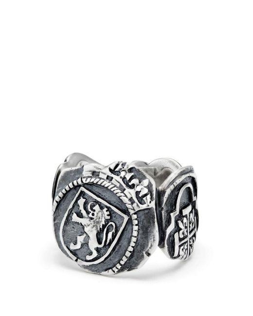 David Yurman - Metallic Shipwreck Signet Coin Ring for Men - Lyst