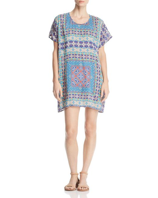 Tolani - Blue Tile-print Tunic Dress - Lyst