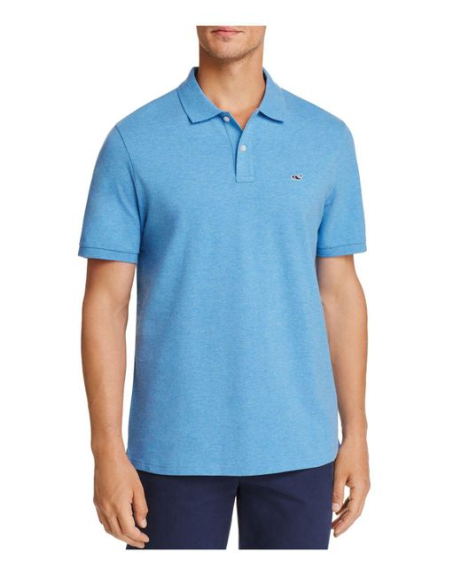 Vineyard Vines - Blue Stretch Pique Classic Fit Polo for Men - Lyst