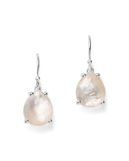 Ippolita - Metallic Sterling Silver & Mother-of-pearl Rock Candy® Pear Drop Earrings - Lyst