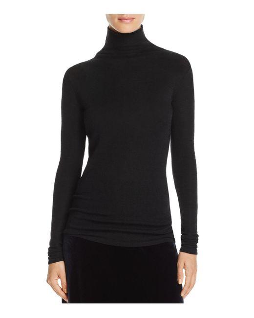 Vince | Black Fine Knit Turtleneck Sweater | Lyst