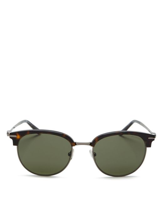 Ferragamo - Green Men's Gancio Square Sunglasses for Men - Lyst