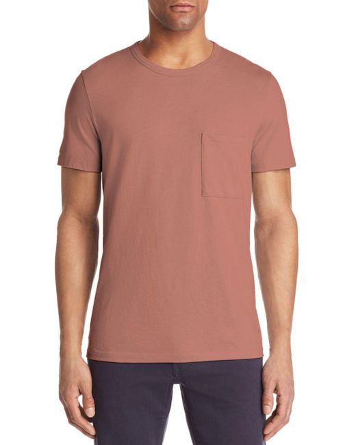 Theory - Pink Essential Pocket Tee for Men - Lyst
