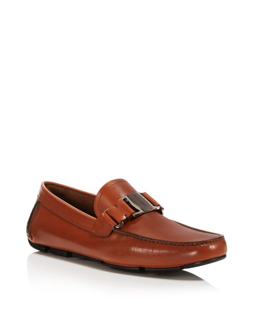 Ferragamo - Brown Men's Sardegna10 Vara Bit Loafers for Men - Lyst