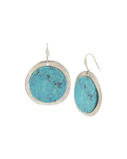 Robert Lee Morris - Blue Turquoise Disc Drop Earrings - Lyst