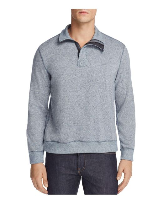 Surfside Supply | Gray Mock Neck Half-zip Sweater for Men | Lyst
