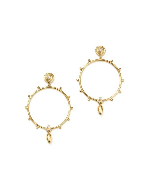 Temple St. Clair - Metallic 18k Yellow Gold Circle Anfora Diamond Earrings - Lyst