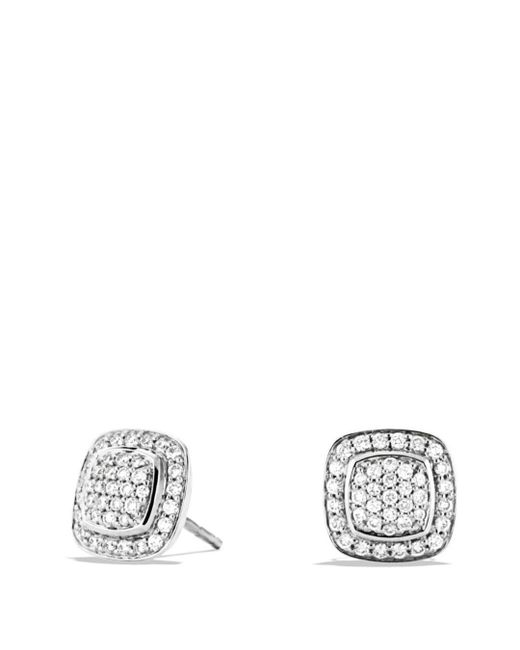 David Yurman - Metallic Albion Mini Earrings With Diamonds - Lyst