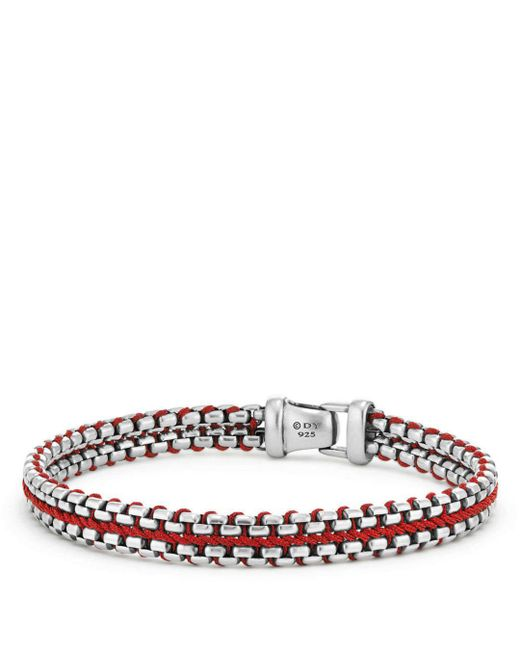 David Yurman - Woven Box Chain Bracelet In Red for Men - Lyst