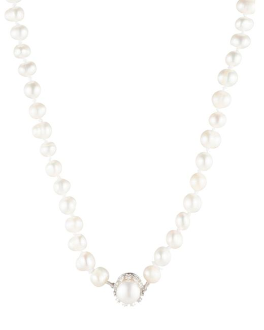 Carolee - White Cultured Freshwater Single Row Pearl Necklace - Lyst