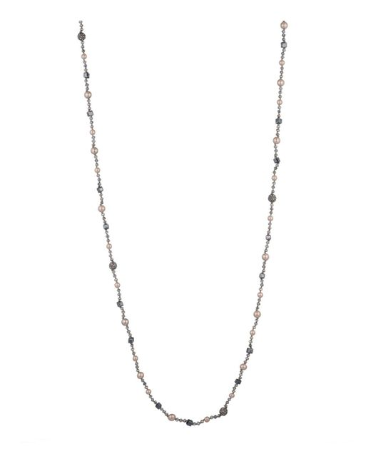 Carolee - Metallic Queen Of Gems Faux-pearl Long Necklace - Lyst