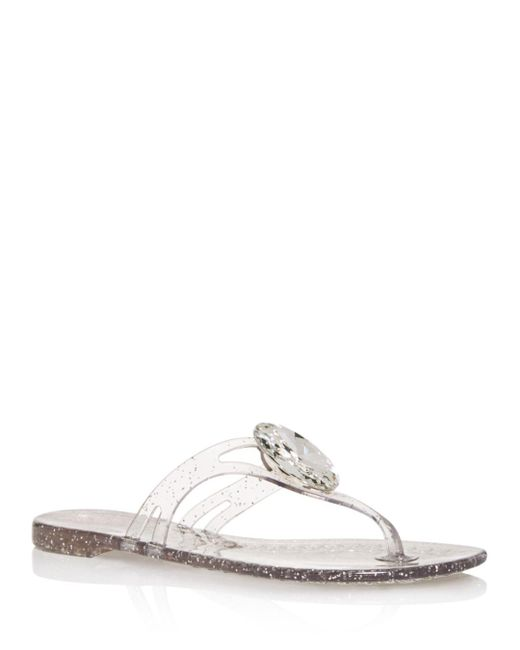 b1bceb4ea19 Casadei - Multicolor Women s Embellished Jelly Thong Sandals ...