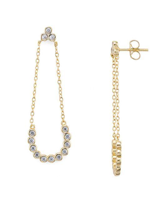 Aqua - Metallic Chain Drop Earrings - Lyst