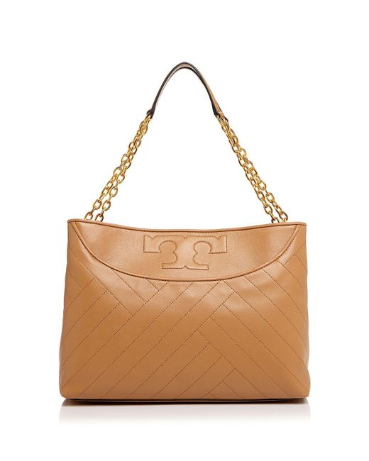 Tory Burch | Black Alexa Quilted Slouchy Leather Tote | Lyst