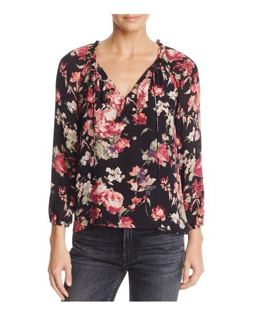 Joie | Multicolor Nadege Floral-print Silk Top | Lyst