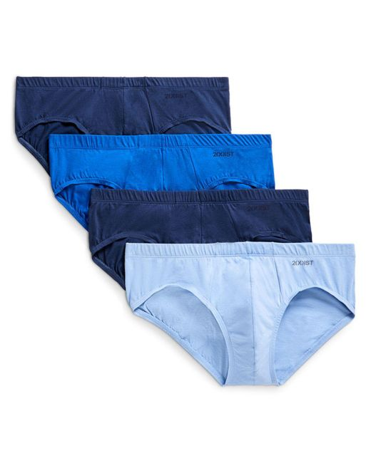 2xist - Blue Cotton Bikini Briefs - Pack Of 4 for Men - Lyst