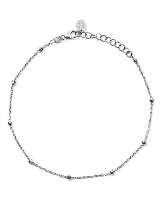 Argento Vivo - Metallic Bead Station Anklet - Lyst