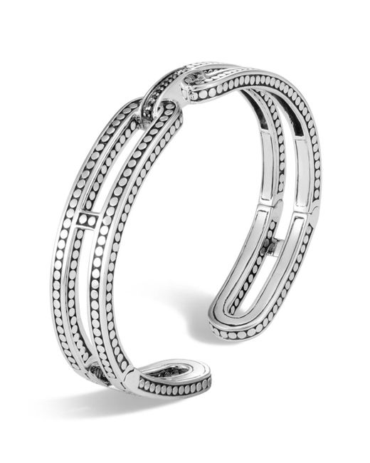 John Hardy - Metallic Sterling Silver Dot Small Kick Cuff - Lyst