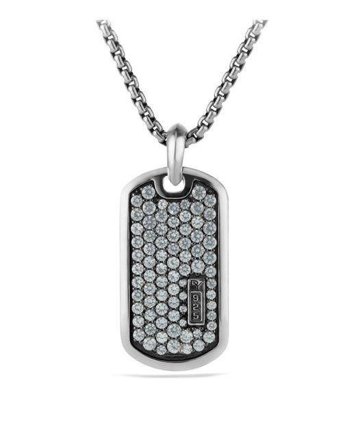 David Yurman   Metallic Pavé Tag With Gray Sapphires for Men   Lyst