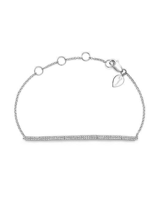 Meira T | 14k White Gold Diamond Bars Bracelet | Lyst