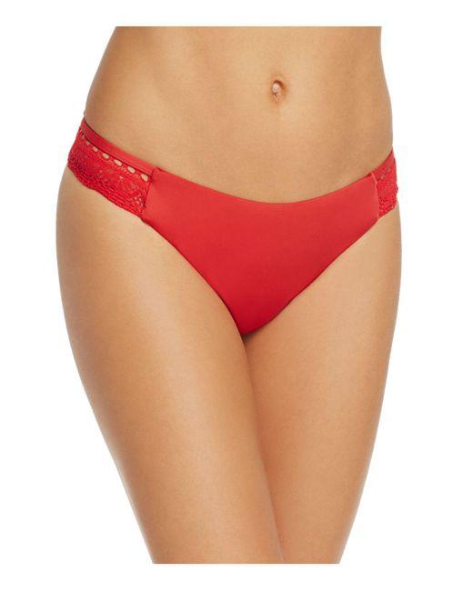 Laundry by Shelli Segal - Red Ruffled Bralette Bikini Top - Lyst