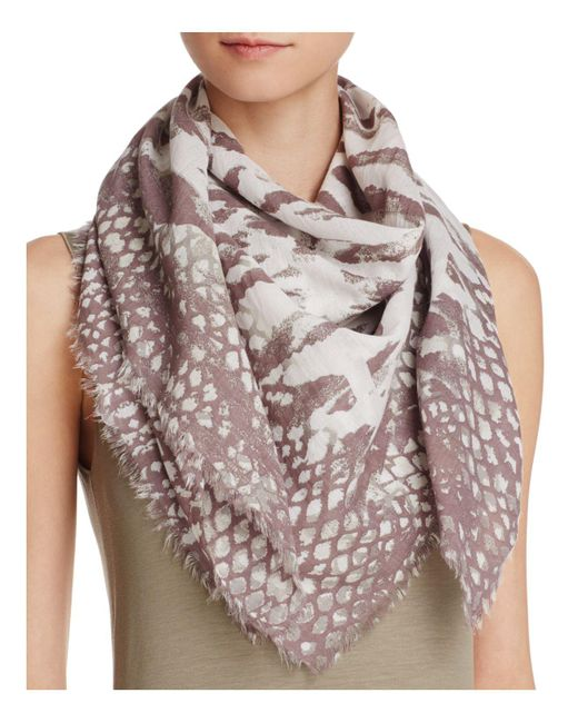 Fraas | Brown Multi Animal Square Scarf | Lyst