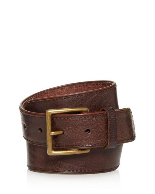 Frye - Brown Jones Leather Belt for Men - Lyst