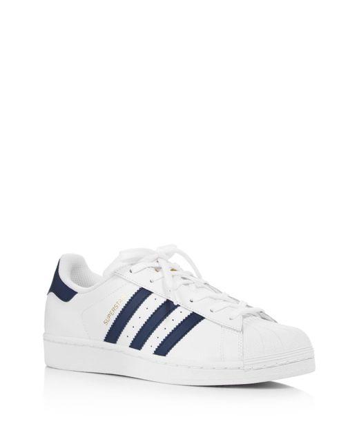 Adidas Originals | White Superstar Trainers | Lyst