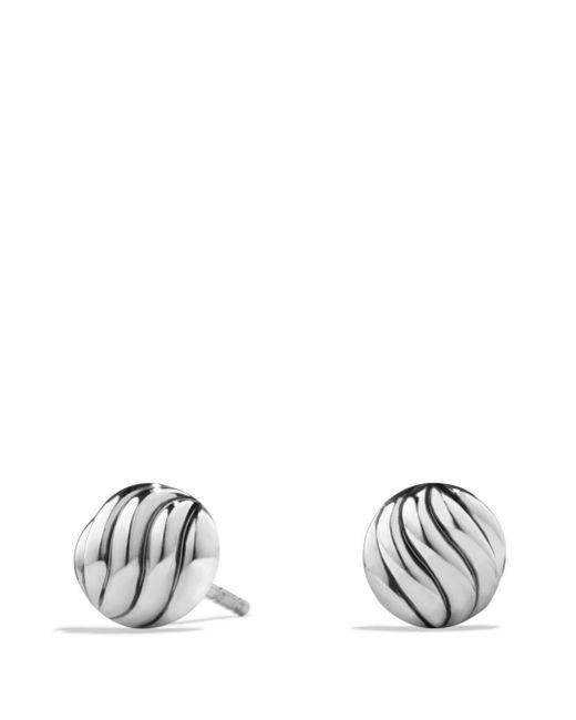 David Yurman - Metallic Sculpted Cable Earrings In Sterling Silver - Lyst