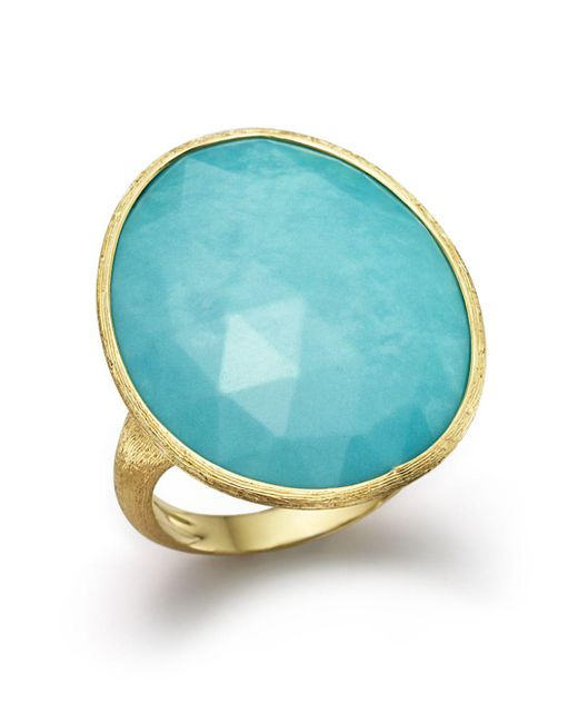 Marco Bicego - Blue 18k Yellow Gold Turquoise Ring - Lyst