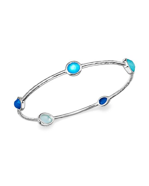 Ippolita | Blue Sterling Silver Rock Candy® Wonderland Bangle In Island | Lyst