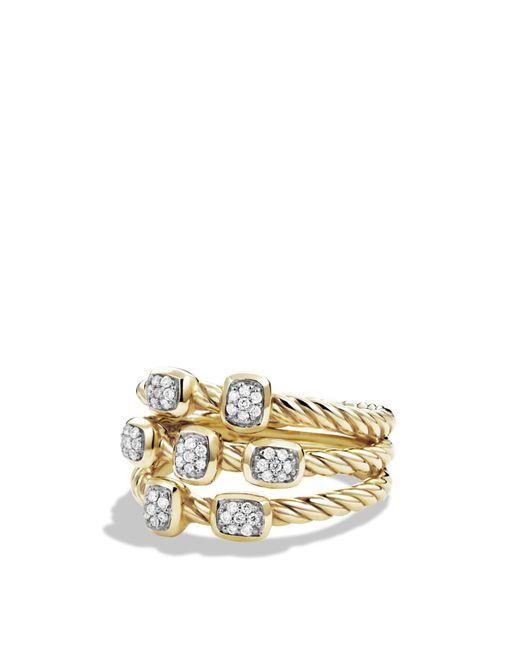 David Yurman | Metallic Confetti Ring With Diamonds In Gold | Lyst