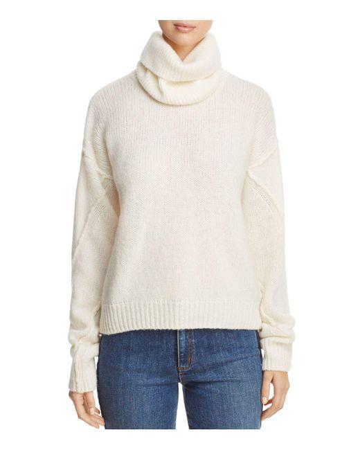 Tory Burch   White Eva Detachable Turtleneck Sweater   Lyst