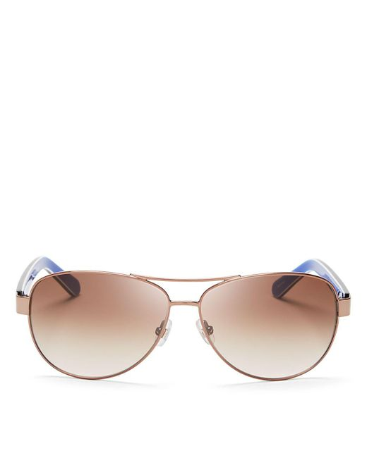 Kate Spade Pink Women's Dalia Aviator Sunglasses