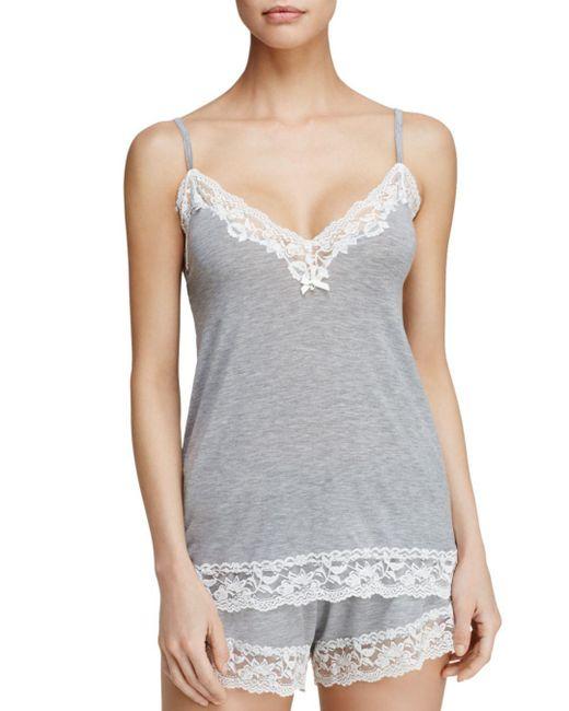 Flora Nikrooz - Gray Snuggle Knit Cami - Lyst