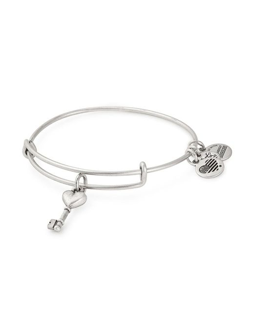 ALEX AND ANI - Metallic Key To Love Expandable Wire Bangle - Lyst
